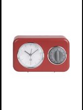 Clock kitchen timer nostalgia brown