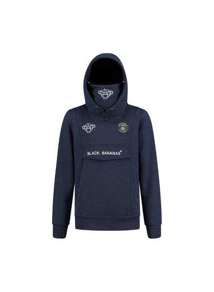 Black Bananas Black Ba. JR Mask Hoody  KFW20/007 blauw