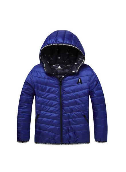 Reversible nylon jacket Blue