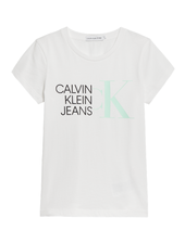 Calvin Klein HYBRID LOGO SLIM T-S