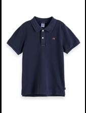 Scotch & Soda Garment dyed short sleeve polo
