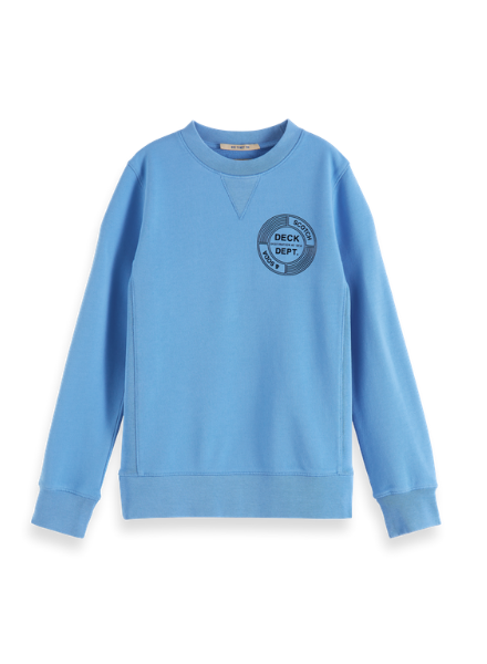 Scotch & Soda Crew neck sweat with artwork in organic cotton quality