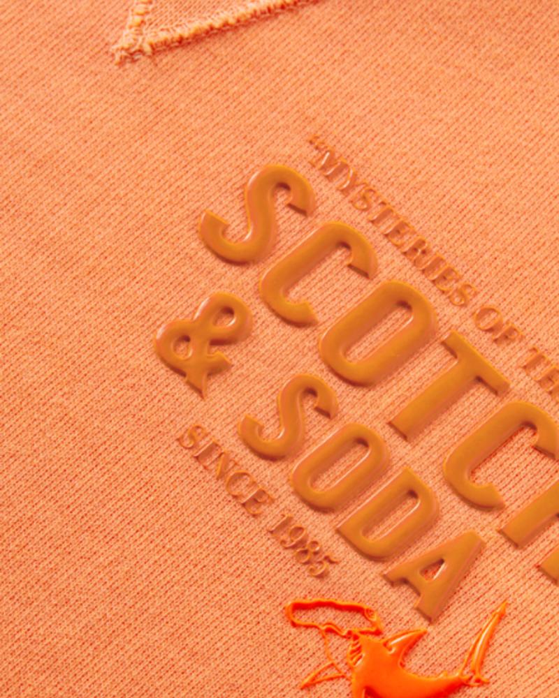 Scotch & Soda Crew neck sweat with artwork in organic cotton quality