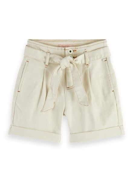 Scotch & Soda Organic cotton paperbag shorts with contrast stitching