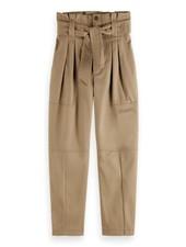 Scotch & Soda Paper bag cargo pants in clean twill