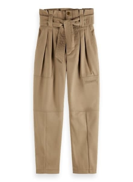Scotch & Soda Paper bag cargo pants in clean twill