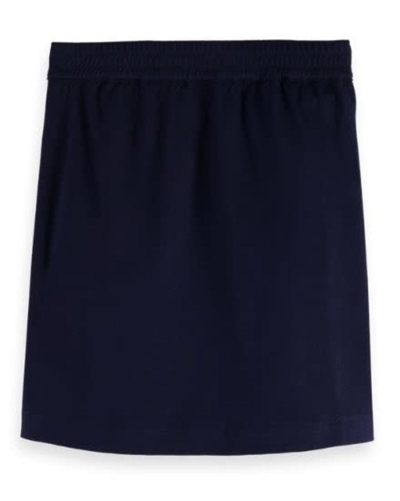 Scotch & Soda Classic clean jersey skirt with shell buttons