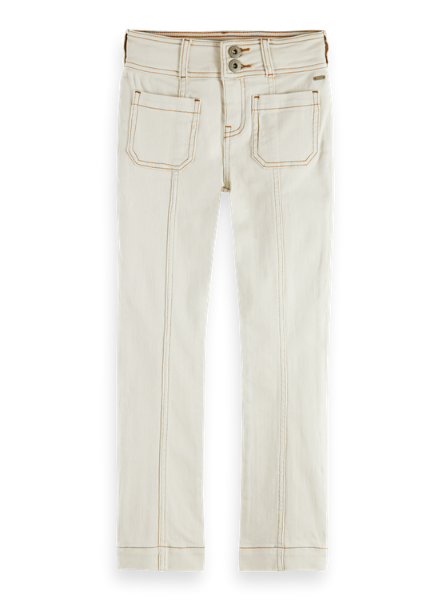 Scotch & Soda Organic cotton straight fit pants with contrast stitching