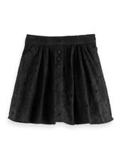 Scotch & Soda Short voluminous skirt with flower brodery anglaise