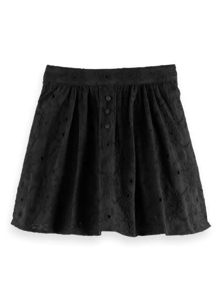 Scotch & Soda Short voluminous skirt with flower brodery anglaise