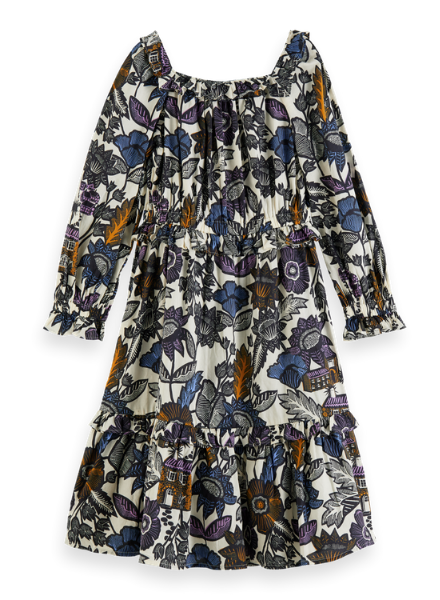 Scotch & Soda Midi dress with all-over print