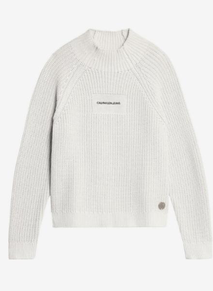 Calvin Klein Oco mock neck boxy sweater W