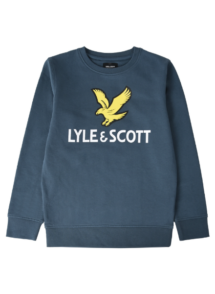 Lyle en Scott Lyle Eagle Logo LB Crew Sweat Blauw