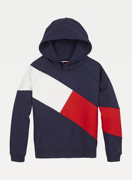 Tommy Hilfiger flag blocking hoodie