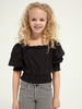 Scotch & Soda Scotch & Soda Cropped brodery anglaise top with puffy sleeves