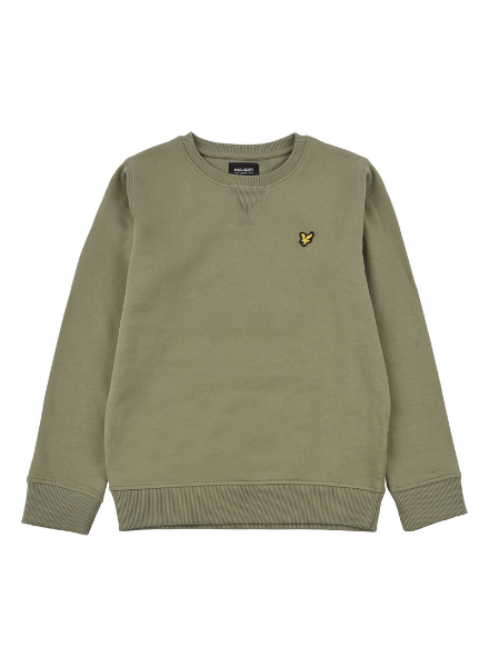 Lyle en Scott Classic LB Crew Neck Fleece Oil Green