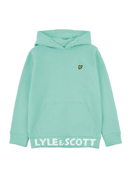 Lyle en Scott Bottom Branded LB OTH Hoodie Neptune Green