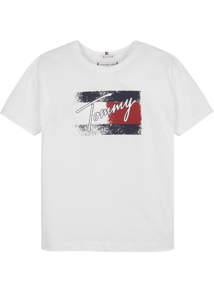 Tommy Hilfiger FLAG PRINT TEE S/S