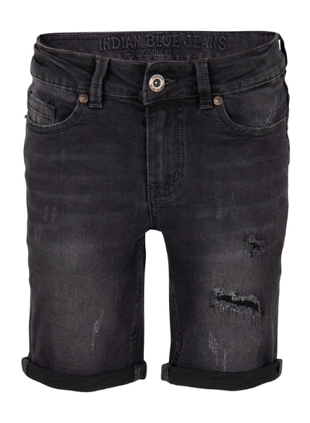 Indian Blue Jeans Black Andy Short Repaired