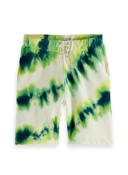 Scotch & Soda Sweat shorts with placed tie-dye in organic cotton quality