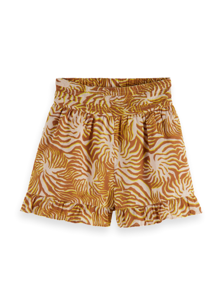 Scotch & Soda Light weight summer short with gathers and ruffled hem