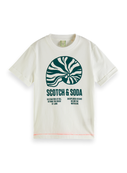 Scotch & Soda Short sleeve tee with 'Magic' sunlight activated artwork
