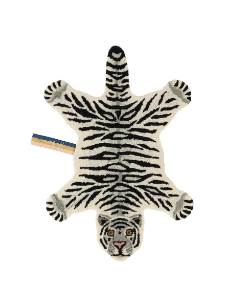 Doinggoods Snowy Tiger rug small