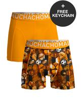 Muchachomalo Boys 2-pack shorts Football incl keychain