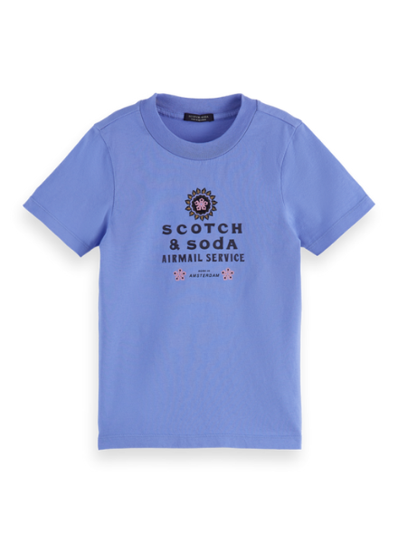 Scotch & Soda Regular-fit artwork T-shirt in Organic Cotton