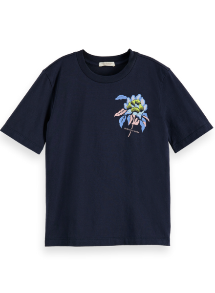Scotch & Soda Relaxed-fit artwork T-shirt in Organic Cotton