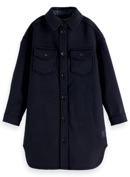 Scotch & Soda Oversized woolen shirt jacket