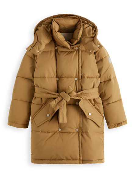 Scotch & Soda Water repellent double-breasted puffer with Repreve® filling