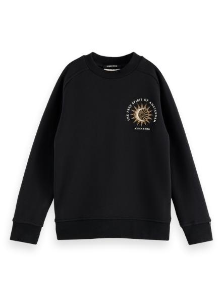 Scotch & Soda Embroidered-artwork sweatshirt