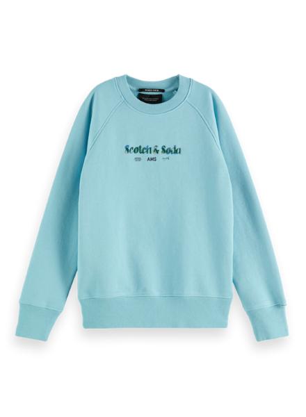 Scotch & Soda Regular raglan-fit  artwork sweatshirt in Organic Cotton