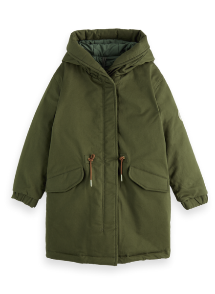 Scotch & Soda Reversible parka jacket with Repreve® filling