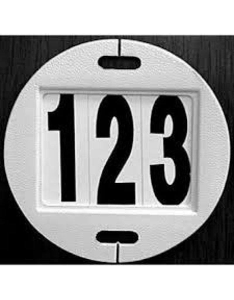 Baker-Mac Bridle Number (3 Slot) White