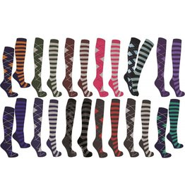Mark Todd Long Socks Argyle & Stripe