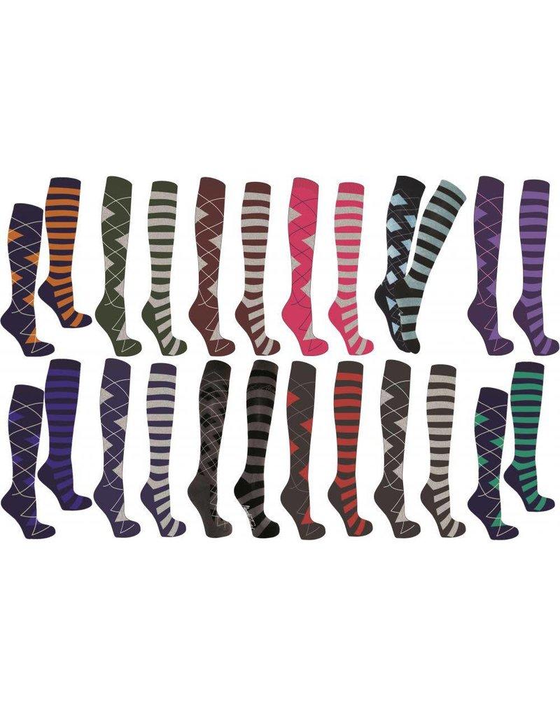 Mark Todd Long Socks Argyle & Stripe