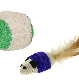 Jackson Galaxy Touwmuis en -balletje voor katten