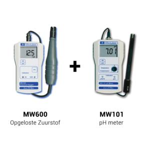 Milwaukee MW600 + MW101 - Draagbare Zuurstofmeter & pH Meter