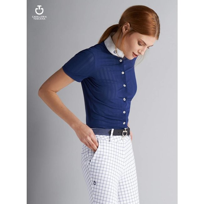 Cavalleria Toscana Competition Shirt CT Perforated Blue