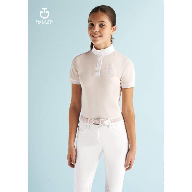 Cavalleria Toscana Competition Shirt Girl Polo POA009 Roze (2500)  cavalleria toscana