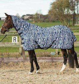 Harry Horse Vliegendeken mesh met hals & singels zebra