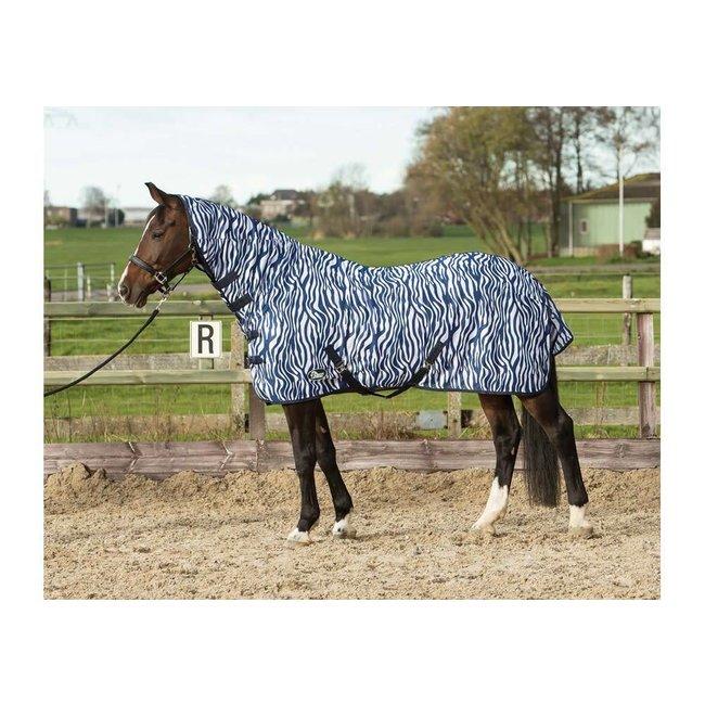 Harry's Horse Vliegendeken mesh met hals & singels zebra