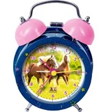 HB Alarmwekker blauw metaal Paardenvriend