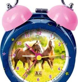 HB HB Alarm clock blue metal Horse friend