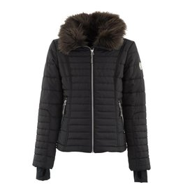 Anky Quilted Jacket Girl Black Bird