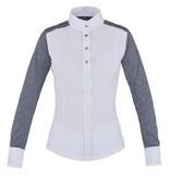 Kingsland Violet Ladies Long Sleeve Show Shirt Blue Melange