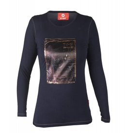 Red Horse Shirt Grande Blauw