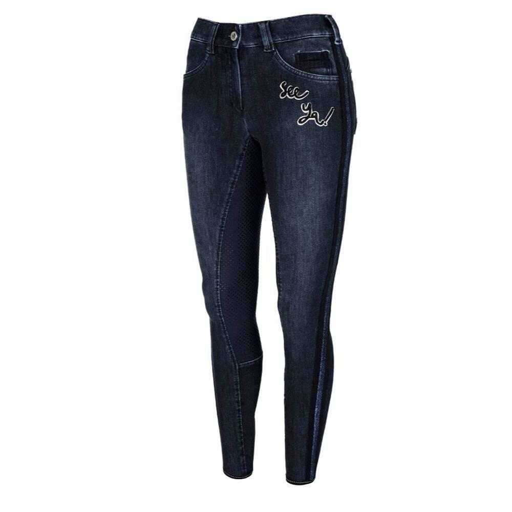 Rijbroek Gianna Grip jeans navy